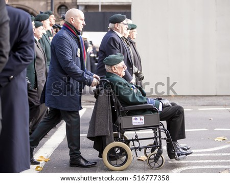 London, United KIngdom,- November 13, 2016: Remembrance Sunday. The second Sunday in November is Remembrance Sunday in Britain when the men and women who died in war are honoured.