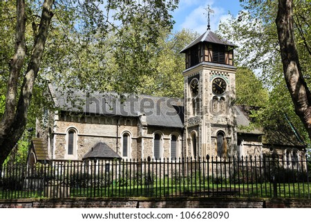 London, United Kingdom - St Pancras Old Church in Somers Town district