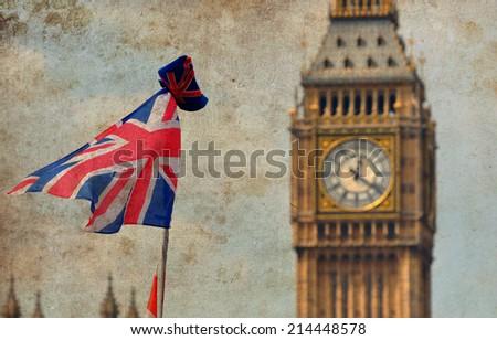 London - vintage syle - stock photo