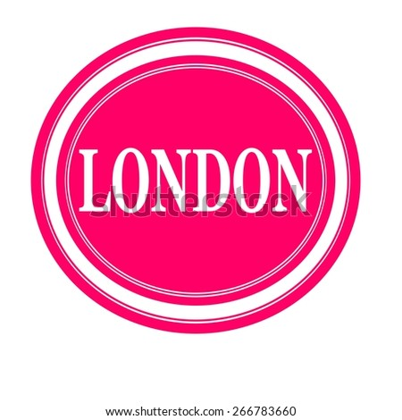 London white stamp text on pink - stock photo