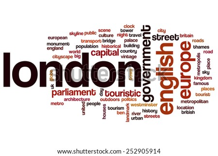 London word cloud concept - stock photo