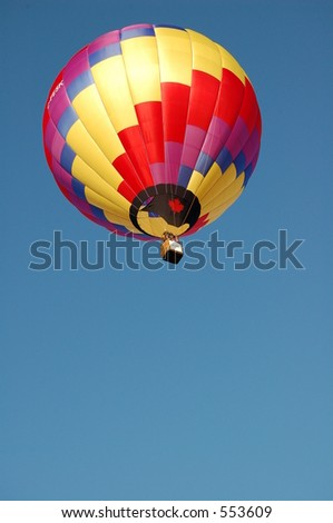 Lone Hot Air Balloon