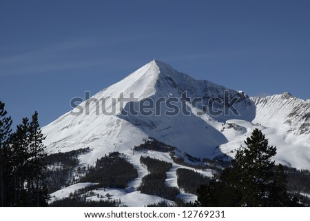Lone Peak Big Sky Montana - stock photo