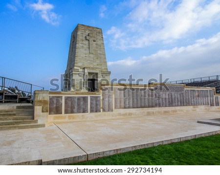 Lone Pine Lone Pine ANZAC Memorial at the Gallipoli Battlefields in Turkey. - stock photo