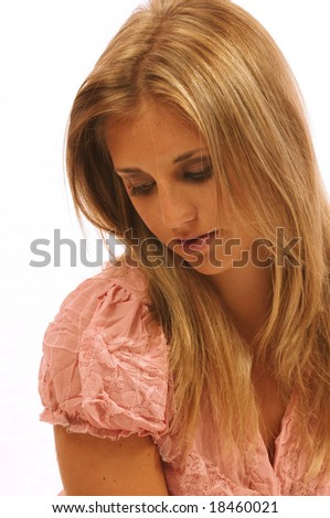 loneliness and woman - stock photo
