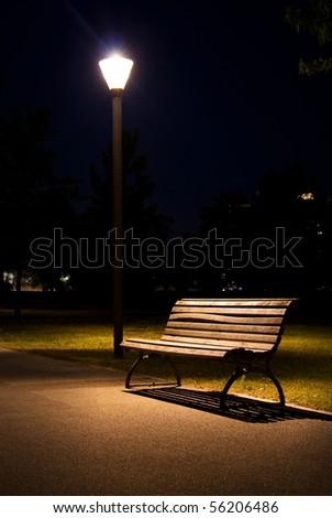 loneliness night - stock photo