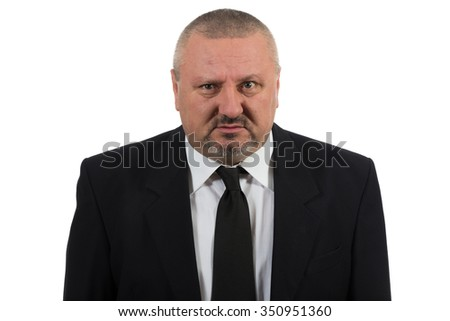 Lonely and desperate businessman - stock photo