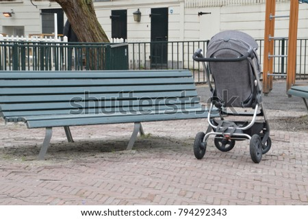 Lonely Baby Buggy At Amsterdam The Netherlands 2017