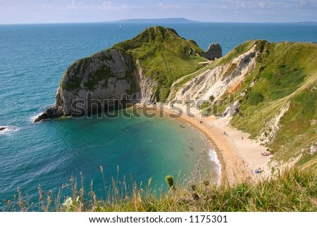 lonely bay - stock photo