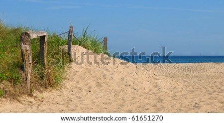 Lonely beach in Europe - stock photo