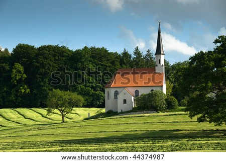 lonely church in Bavary, Germany