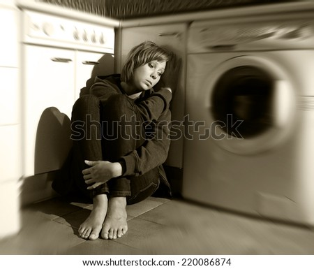 barefoot in the kitchen country song beautiful lonely standing airplane stock photo 9076