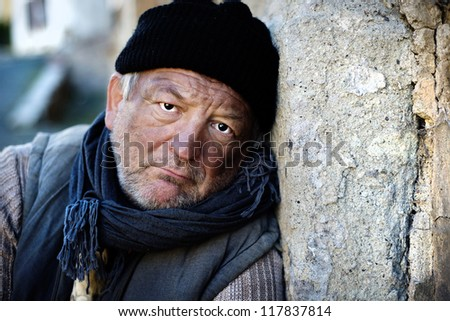 Lonely man - stock photo