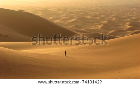 lonely on the desert