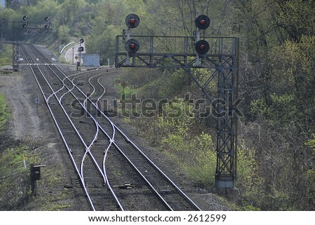 Lonely Rail Lines - stock photo