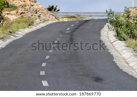 Lonely Road in the Desert Tenerife Canary Islands