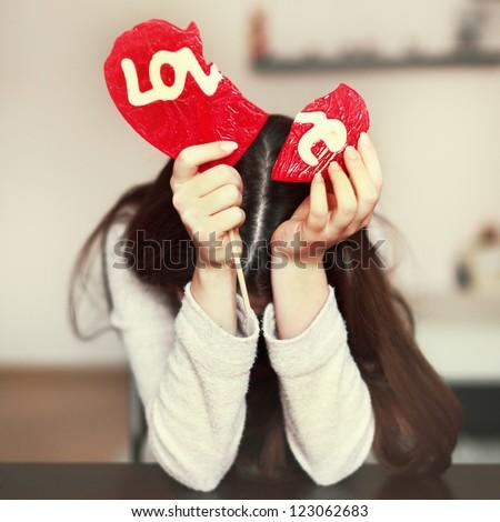 Lonely sad girl broken heart stock photo edit now 123062683 lonely sad girl with broken heart altavistaventures Images