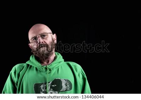 Lonely sad man - stock photo