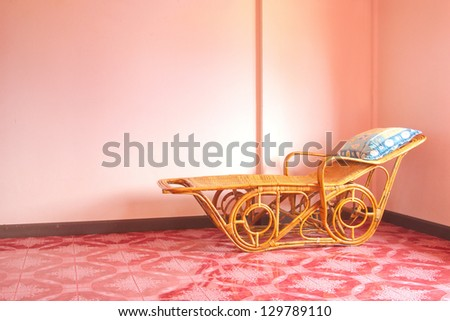 Lonely vacncy bed - stock photo