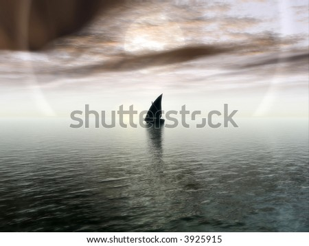 Lonesome Journey - stock photo