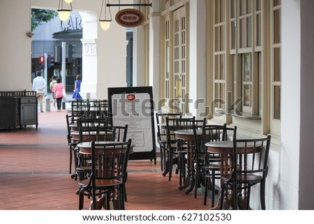 LONG BAR RAFFLES HOTEL SINGAPORE JANUARY 2015 Seats And Table Of