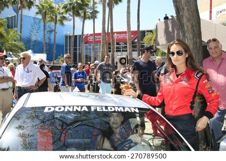 LONG BEACH - APR 18: Donna Feldman at the Toyota Grand Prix Of Long Beach Pro/Celebrity Race - Race Day on April 18, 2015 in Long Beach, California - stock photo