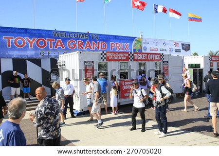 LONG BEACH - APR 18: General Atmosphere, Entrance at the Toyota Grand Prix Of Long Beach Pro/Celebrity Race - Race Day on April 18, 2015 in Long Beach, California - stock photo
