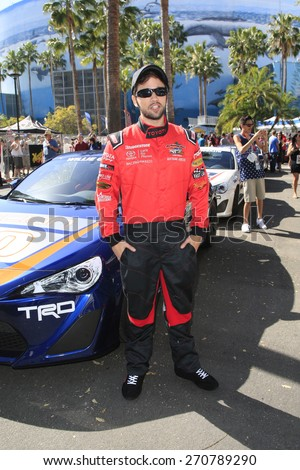 LONG BEACH - APR 18: Nathan Kress at the Toyota Grand Prix Of Long Beach Pro/Celebrity Race - Race Day on April 18, 2015 in Long Beach, California - stock photo