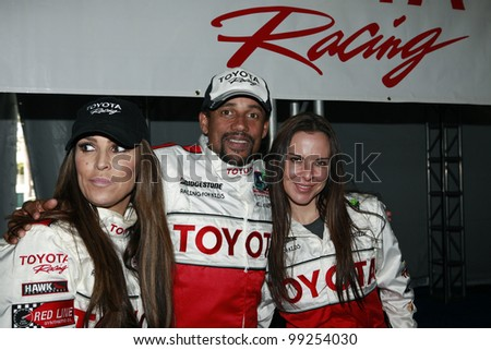 LONG BEACH, CA - APR 3: Jillian Barberie Reynolds, Hill Harper, Kate Del Castillo at the 36th Annual 2012 Toyota Pro/Celebrity Race - Press Practice Day on April 3, 2012 in Long Beach, California