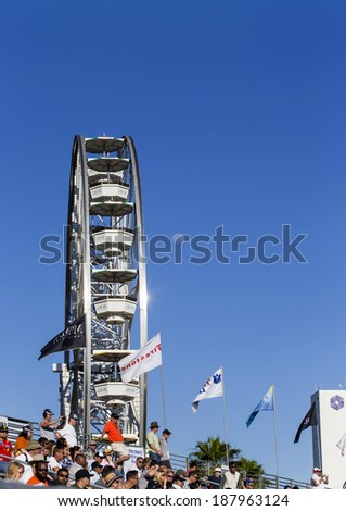 Long Beach, CA - Apr 11, 2014:  The TUDOR United SportsCar Championship teams take to the track for the TUDOR United SportsCar Championship of Long Beach at Grand Prix of Long Beach in Long Beach, CA. - stock photo