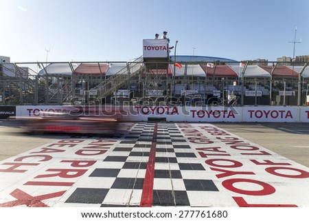 Long Beach, CA - Apr 18, 2015:  The Tudor United SportsCar Championship teams take to the track for the Tequila Patron Sports Car Racing Showcase at Long Beach Grand Prix in Long Beach, CA. - stock photo