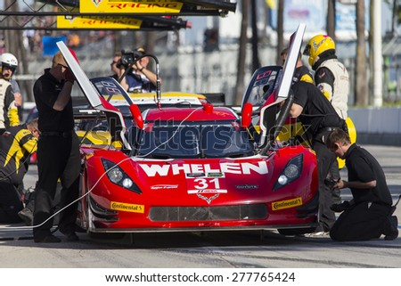 Long Beach, CA - Apr 17, 2015:  The Tudor United SportsCar Championship teams take to the track for the Tequila Patron Sports Car Racing Showcase at Long Beach Grand Prix in Long Beach, CA.