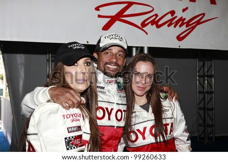 LONG BEACH, CA - APRIL 3: Jillian Barberie Reynolds, Hill Harper, Kate Del Castillo at the 36th Annual 2012 Toyota Pro/Celebrity Race - Press Practice Day on April 3, 2012 in Long Beach, California