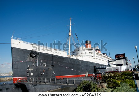 LONG BEACH, CA - JANUARY 23: Recently opened Ghosts and Legends of the Queen Mary tour. Hotel Queen Mary on January 23, 2010 in Long Beach, California.