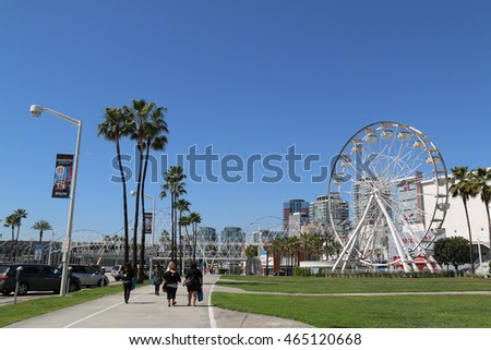 Long Beach, CA, USA - March 16, 2016: Long Beach, a principal city of the Los Angeles metropolitan area, is the 36th-largest city in the United States and the 7th largest in the Greater Los Angeles.