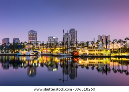 Long Beach, California, USA skyline. - stock photo
