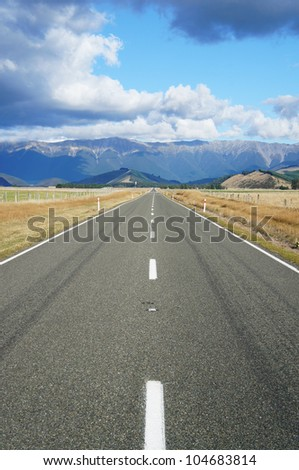 Long Country Road - Highway 63 - New Zealand
