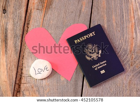 Long distance relationship or love affair  - stock photo