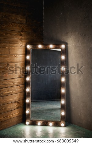 Long Dressing Mirror Light Bulbs Stands Stock Photo (Download Now ...