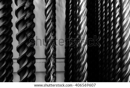 Long drill bits texture background