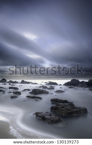 Long exposure at Cap Gris Nez - France