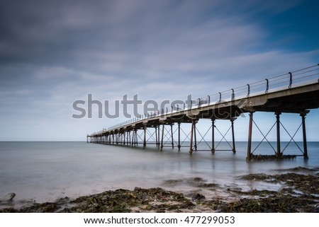 Long Exposure at Saltburn Pier / Saltburn by the Sea is a Victorian seaside resort, with a pier that is the most northerly  surviving British Pier