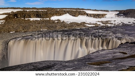 Long exposure of Dettifoss waterfall, Northern Iceland