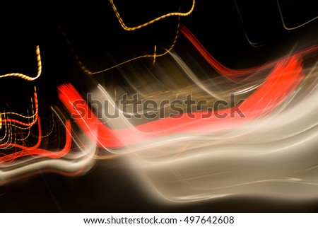 Long exposure small neon lights texture. Modern art. Abstract colourfull neon light.