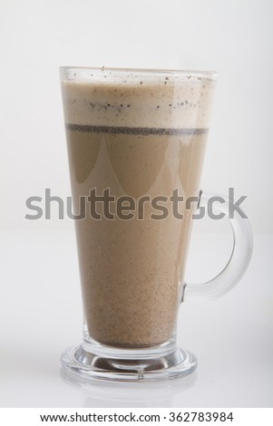 long frappe coffee - stock photo