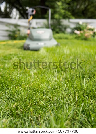 Long grass getting mowed