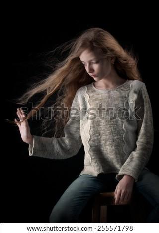 Long hair - stock photo