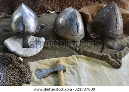 long historical sword used by fans of history - stock photo