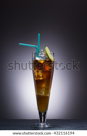 Long island ice tea cocktail at the club