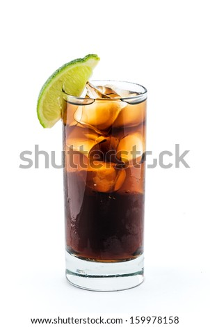 Long Island Iced Tea cocktail isolation with clipping path - stock photo